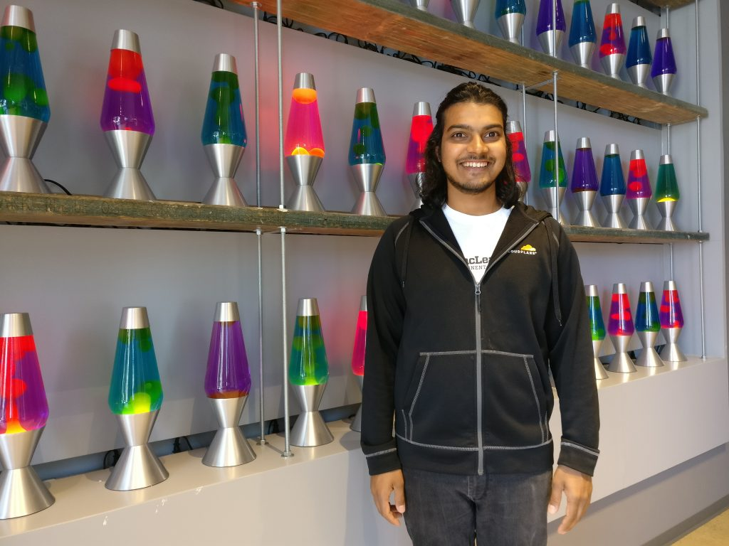 Sachin Fernandes, a Michigan Tech Alumni '17 with a degree in Computer Engineering, working at Cloudflare.