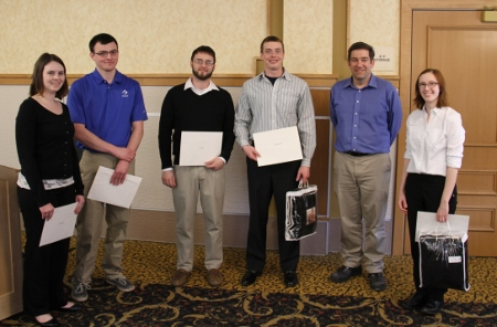 Awards were presented for Prevent Accidents With Safety (PAWS) Awards: Megan Haechrel, Kristopher Kacynski, Kyle Lepeak, Eric Simon and Shannon Solden