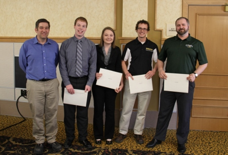 Dow Chemical Marriott W. Bredekamp Award: Paul Hagadone Jesse Johnson, Daniel LaForest and Stephanie Marshall