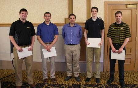 UOP Davis W. Hubbard Plant Design Team Award: Austin Gauthier, Ethan LeSage, Kaden Nesky and Danny Stawicki
