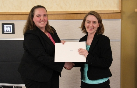 """""""Research Mentor of the Year"""" award: Caryn Heldt"""