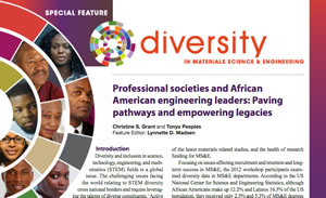 Diversity in Materials Science and Engineering cover graphic