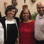 Left to Right: Sonali Jog, Laura Barrientos, Pushpa Murthy, and Parag Jog