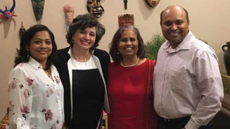 Photo of Sonali Jog, Laura Barrientos, Pushpa Murthy, and Parag Jog