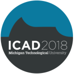 International Conference on Auditory Display, ICAD 2018 Michigan Technological University graphic logo.
