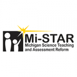 Mi Star Logo, An adult figure with child, Michigan Science Teaching and Assessment Reform
