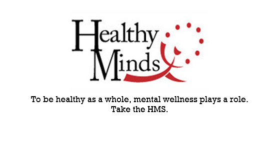 Health Minds Sticker with tagline