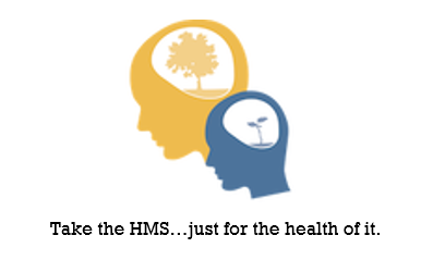 Healthy Minds Heads Sticker with tagline