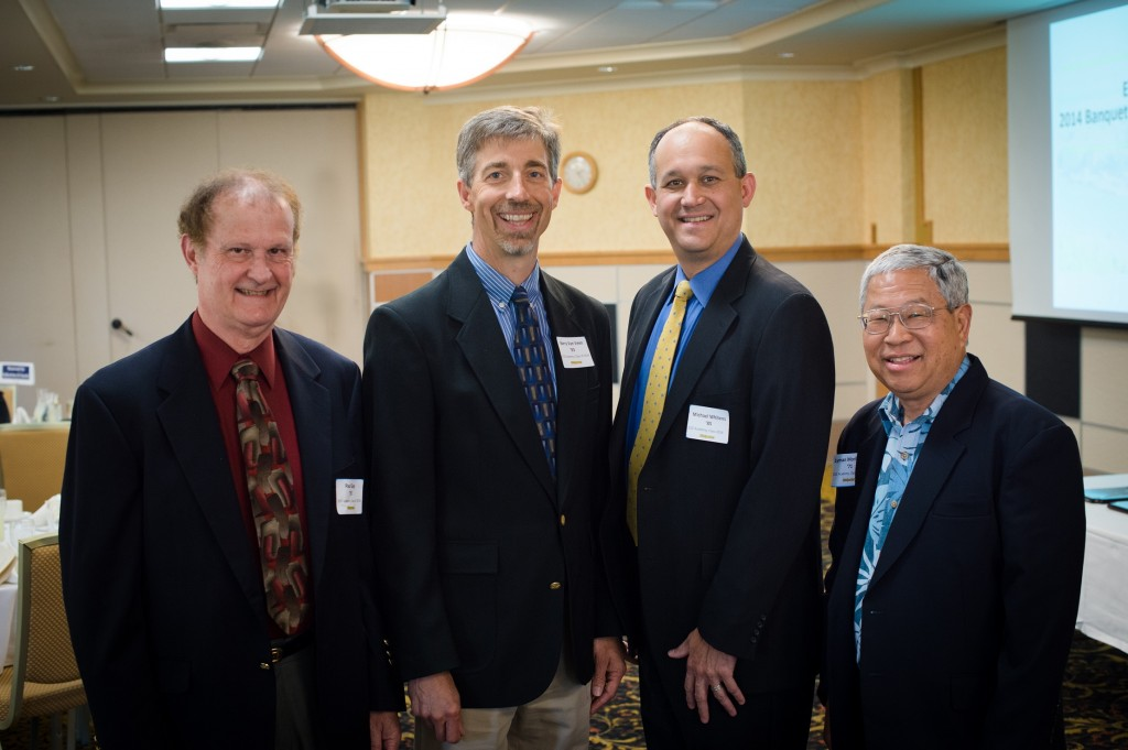ECE Academy, Class of 2014 inductees H. Paul Gay '70, Barry Van Veen '83, Michael Whitens '85, Lyman Morikawa '71