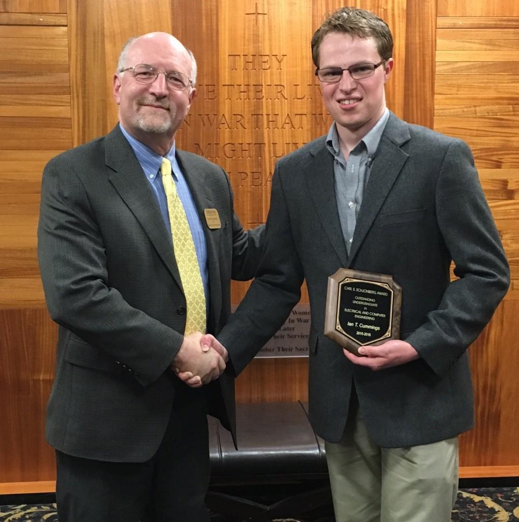 Ian Cummings, Carl S. Schjonberg ECE Outstanding Senior