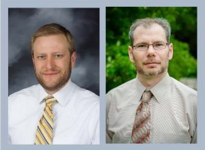 ECE Profs. Jeremy Bos (L) and Christopher Middlebrook