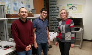 Prof. Elena Semouchkina with PhD students Saeid Jamilan and Navid Gandji