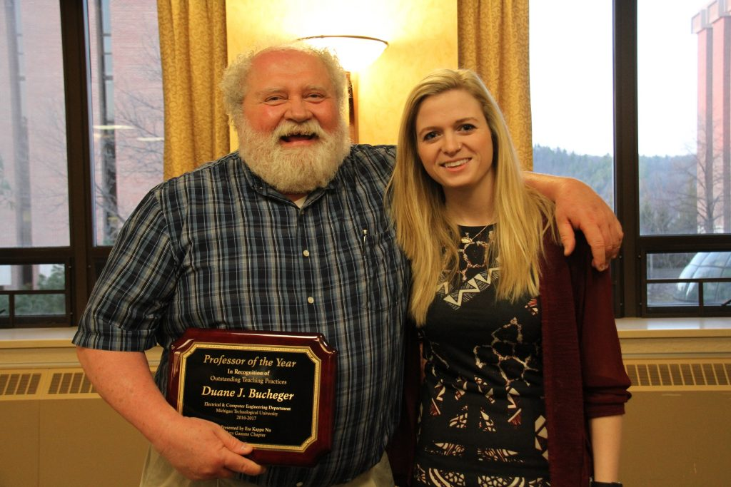 Duane Bucheger, HKN Professor of the Year, presented by Libbey Held