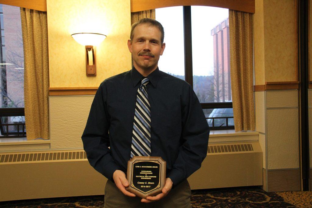 Casey Strom, 2017 Carl J. Schjonberg Award for Outstanding ECE Undergraduate Student