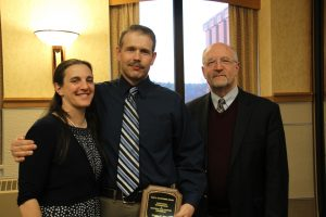 Casey Strom, 2017 Carl J. Schjonberg Award for Outstanding ECE Undergraduate Student, along with his wife Becky