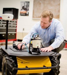 Autonomous vehicle research by ECE Assistant Professor Jeremy Bos