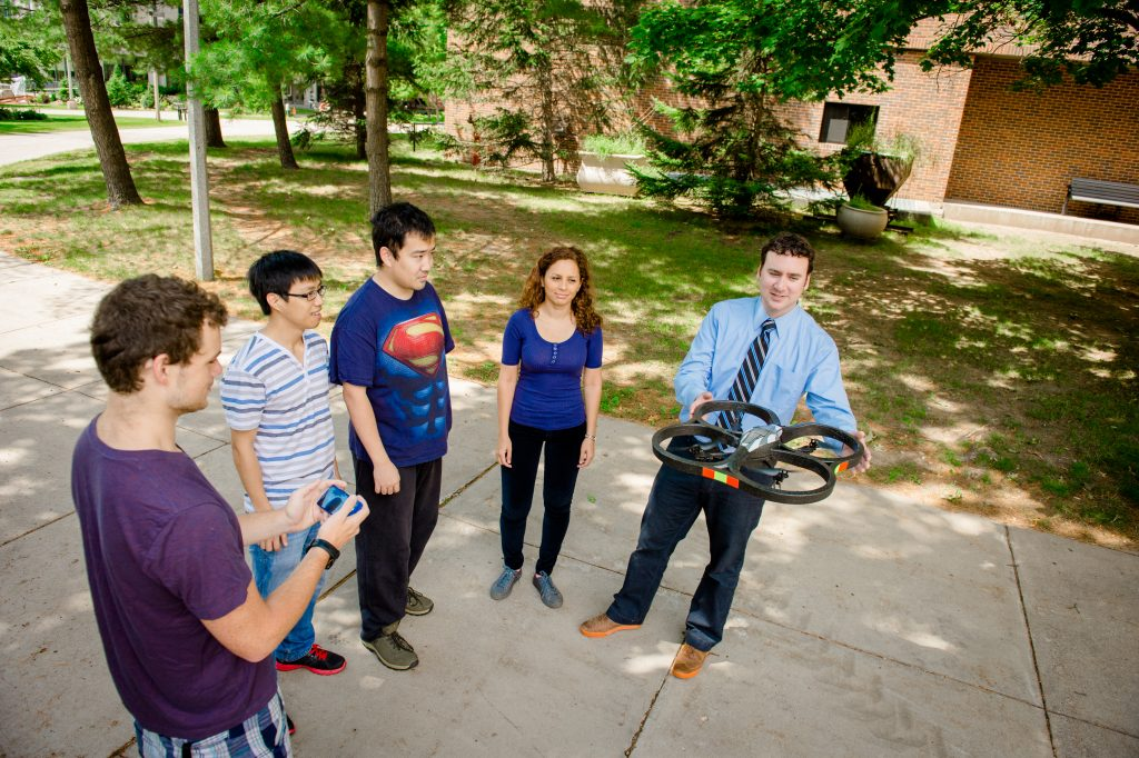 Associate Professor Tim Havens and graduate students