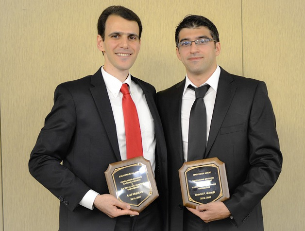 (L-R) Award recipients Aref Majdara and Navid Gandji