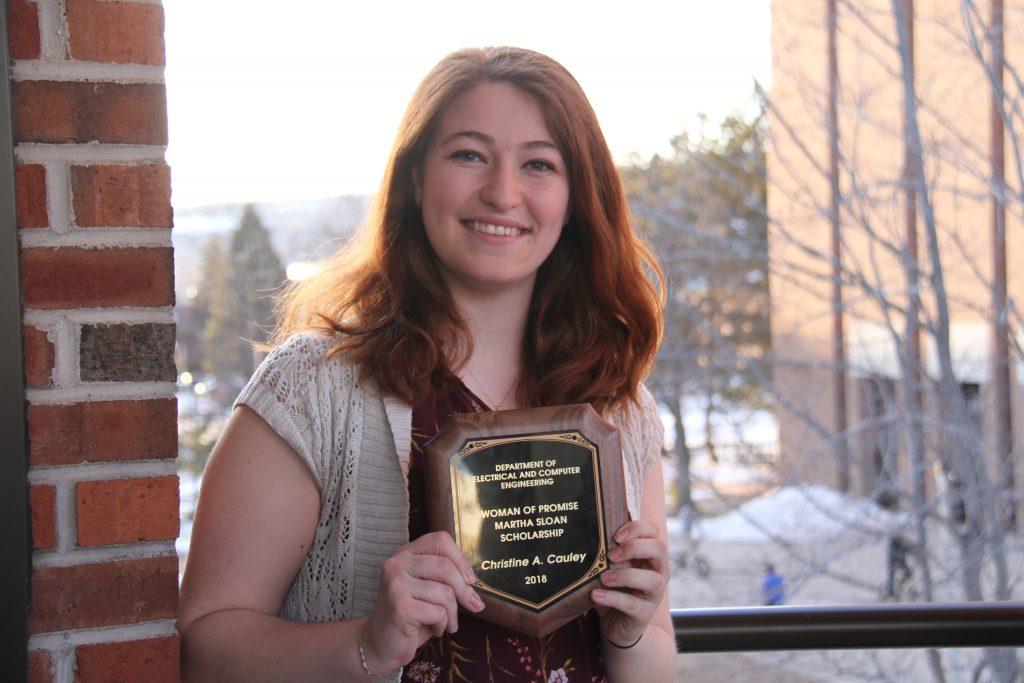 ECE 2018 Woman of Promise, Martha Sloan Scholarship recipient: Christine Cauley