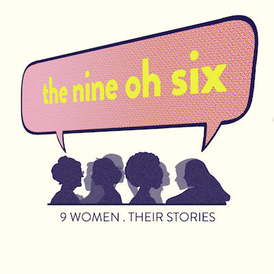 the nine oh six logo with women graphics