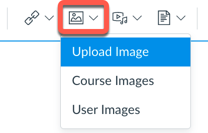 Image tool in Canvas Rich Content Editor
