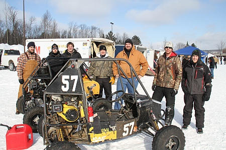Here are some of the University of Iowa Hawkeyes  that came in First Place in Endurance  Contest