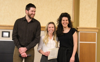 1st Place Oral Presentation Award Winner:   Jennifer Fuller Civil and Environmental Engineering Developing a Sustainable Process for Removal of Synthetic Hormones in Wastewater Treatment