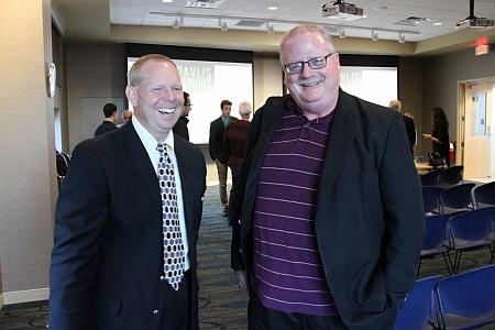 Matt Roush with Michigan Tech's Jim Baker