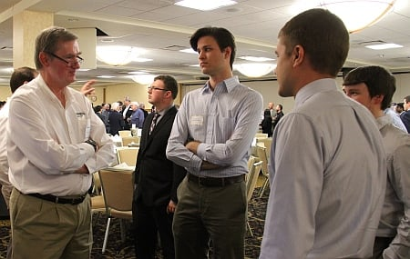 Railroad Night is a networking opportunity for both industry representatives and students.  The event features a relaxed evening of dining and conversation.