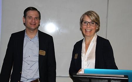 Lorelle Meadows, Dean, Pavlis Honors College with David Watkins, CEE