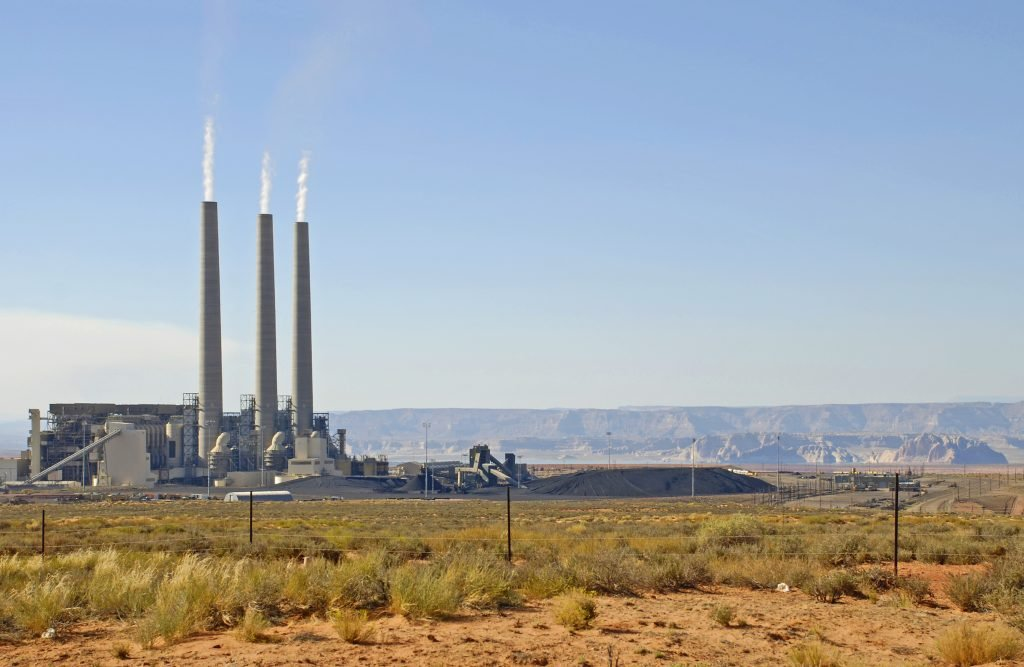 Coal-fired power plant on the Navajo Nation near Page, Arizona