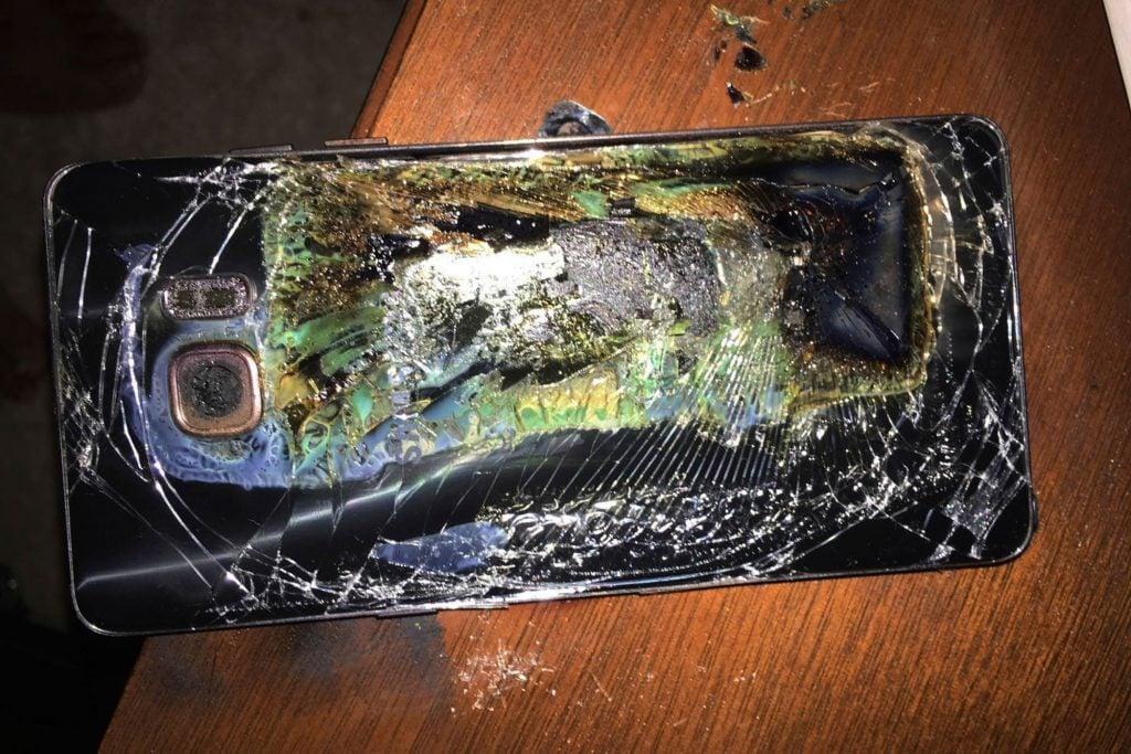 Samsung exploded phone