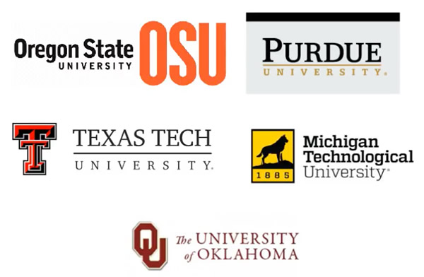 ME Department Teams are OSU, Purdue University, Texas Tech, Michigan Tech, and the University of Oklahoma