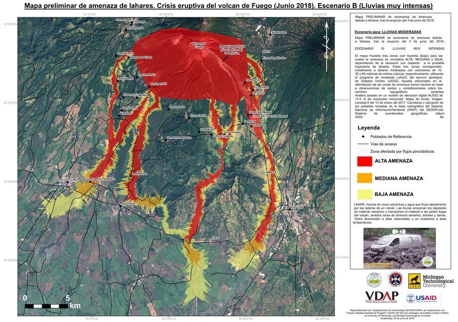 Preliminary mapping lahar threats in Guatemala—vital for communities affected by the eruption.