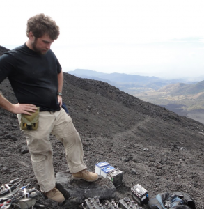 Kyle Brill on Pacaya Volcano