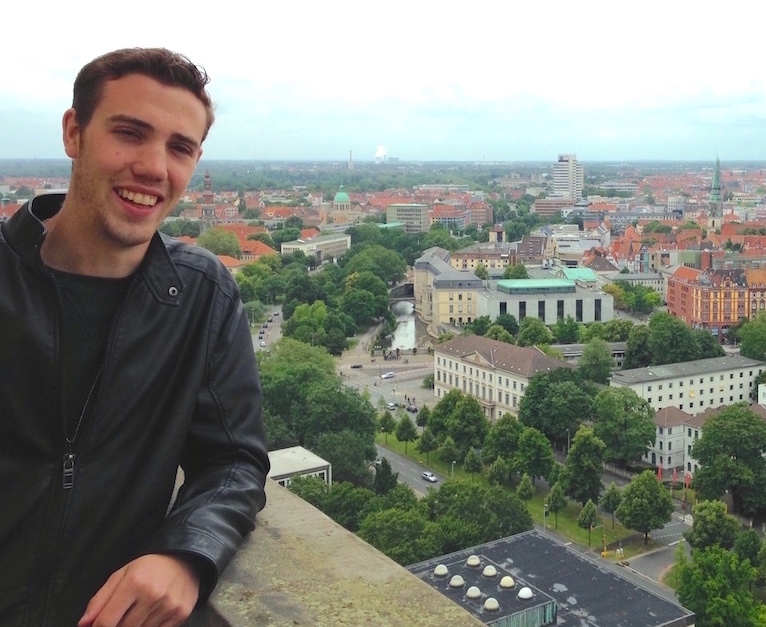 Michigan Tech MSE student Jacob Braykovich studied abroad at Leibniz University Institute of Materials Science.
