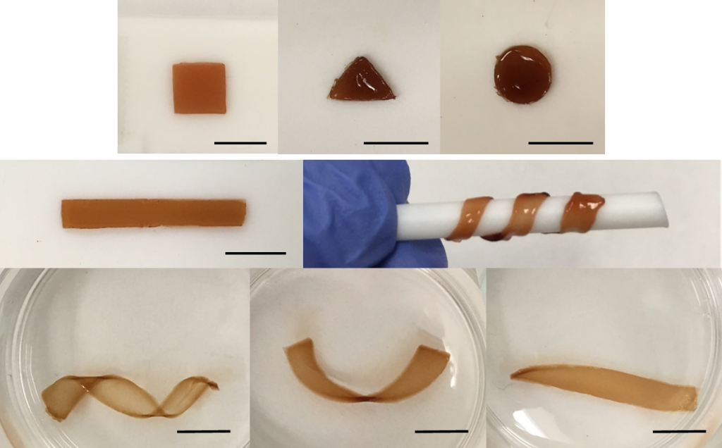 Self-healable and moldable nanocomposite gel as fit-to-shape sealant.