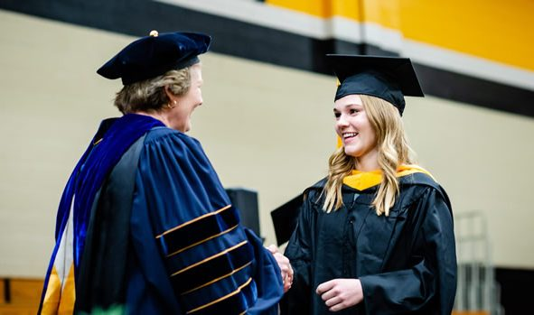 Dean Callahan with student