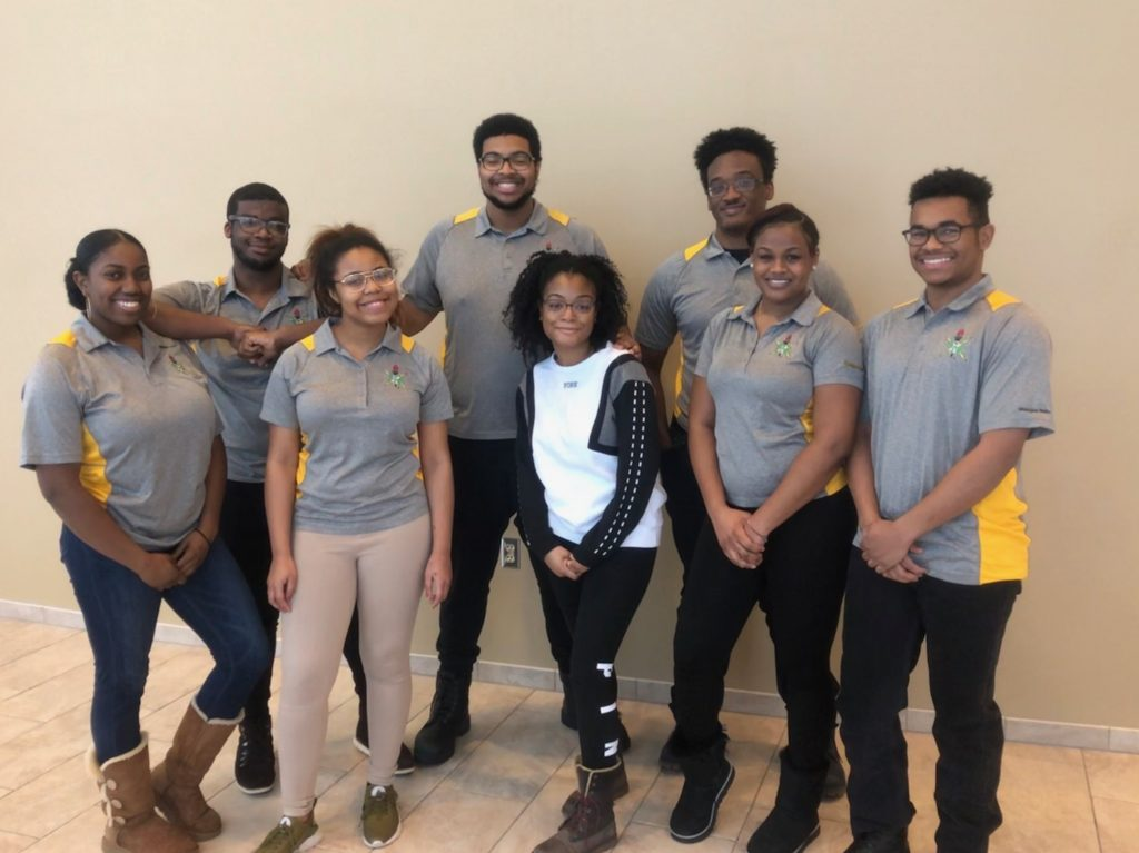 Portrait of the Michigan Tech NSBE students who traveled to Detroit