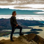 Ryan Schrader stands atop Roys Peak, located between Wanaka and Glendhu Bay in New Zealand.