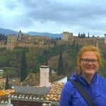 Michigan Tech Civil Engineering student Kendall Witting, in Spain
