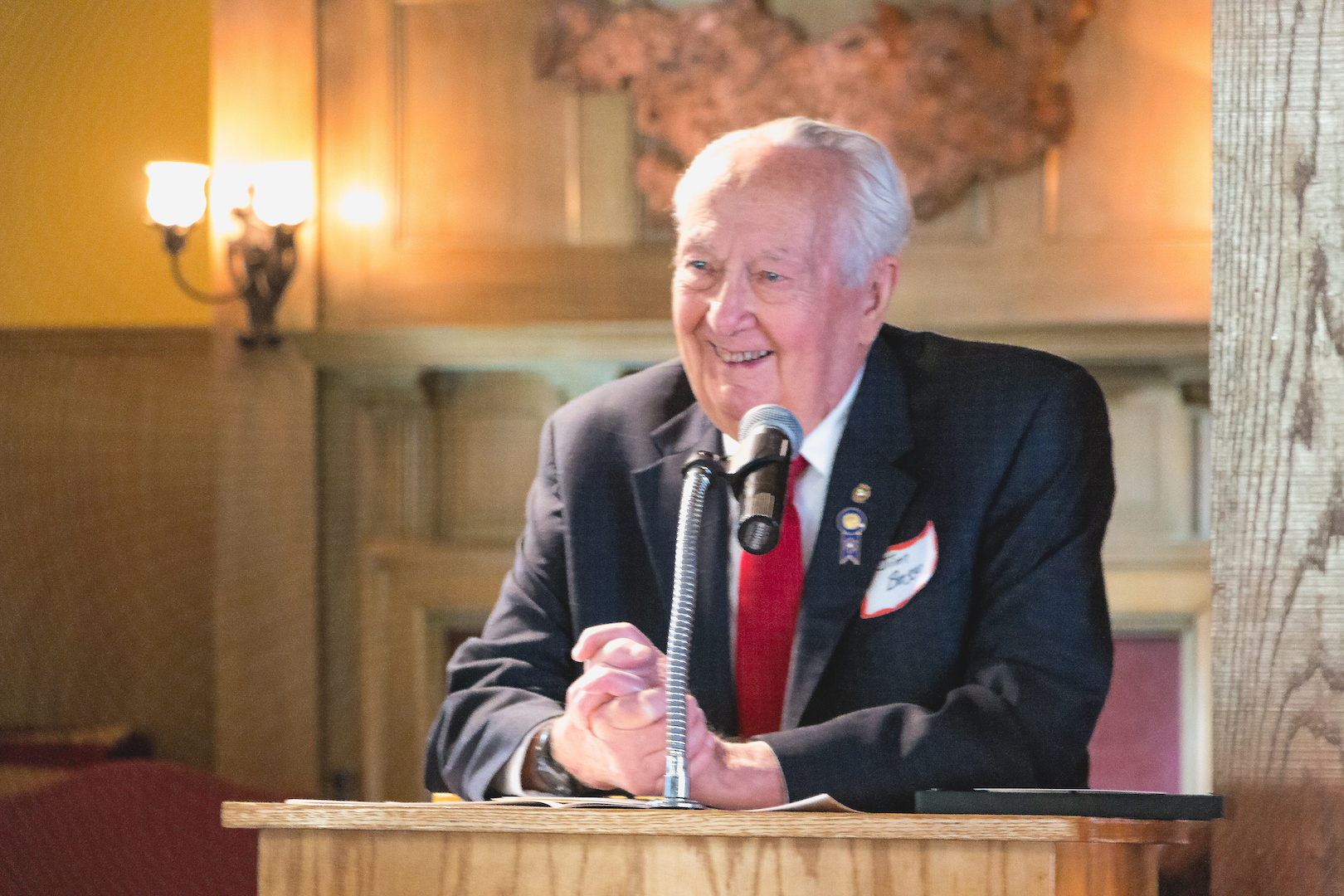 portrait of James Brozzo '53, Master of Ceremonies