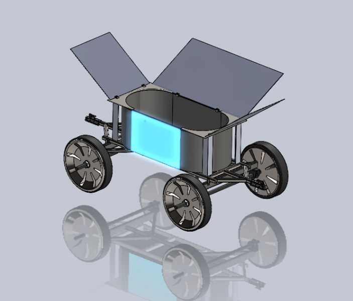 Solidworks model of deicing fluid collection cart