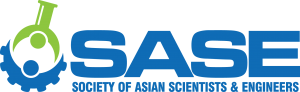 The SASE logo, which features a blue gear combined with a green beaker.