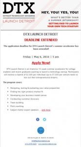 DTX Summer Accelerator Program