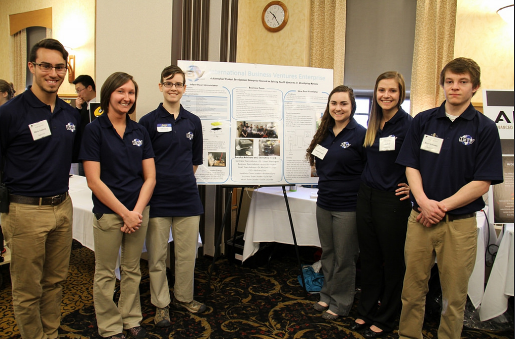 IGS at Tech's annual Design Expo. Calabria is first from the left.