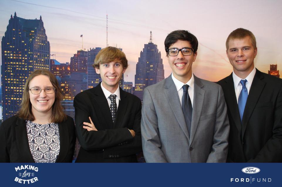 From left: Sarah Blum, Zack Lewis, Paul Torola, and Brandon King
