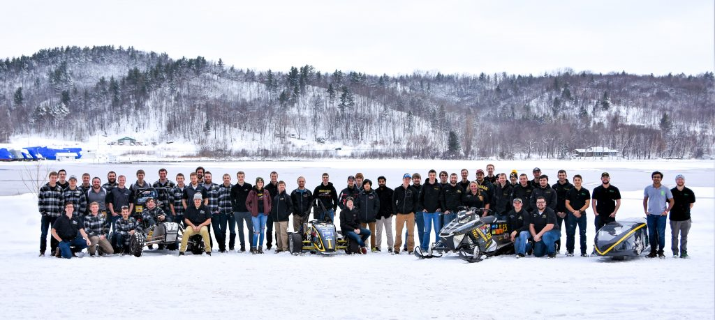Blizzard Baja, Clean Snowmobile, Formula SAE, and Supermileage Systems Enterprise students