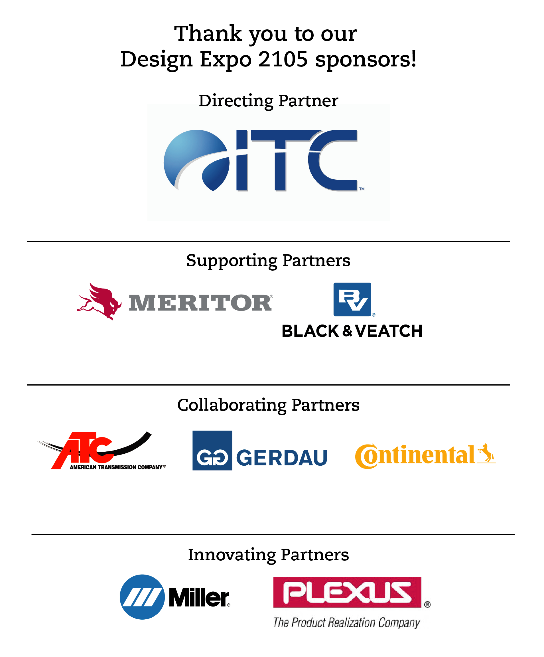 Design Expo 2015 event sponsors