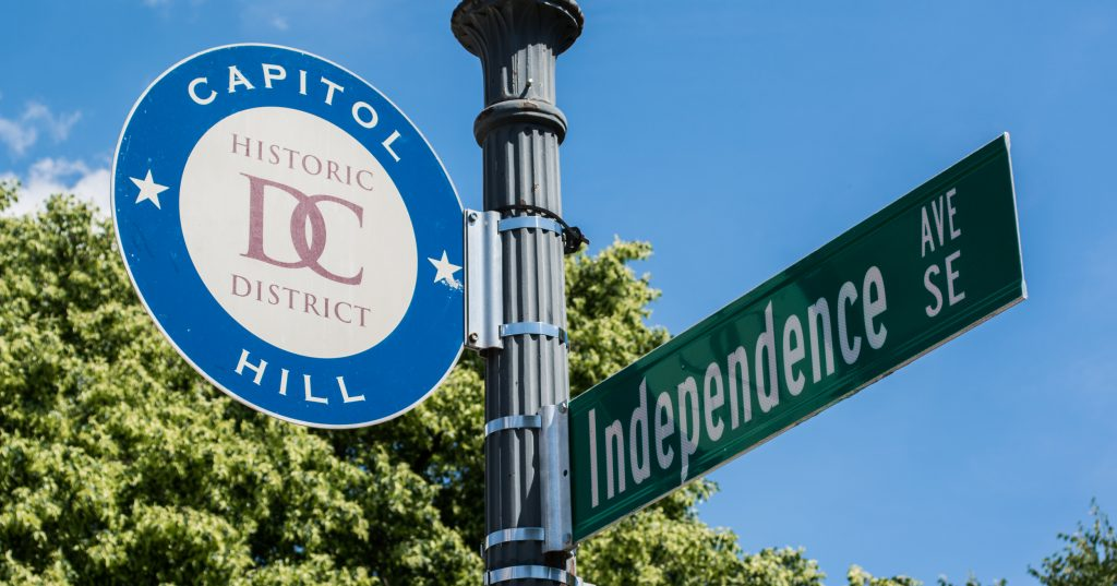 Capitol Hill sign